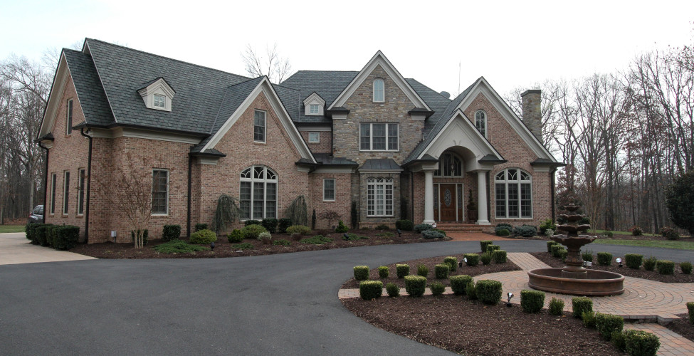Front Elevation Stone Work : Custom home builder winchester va foreman builders