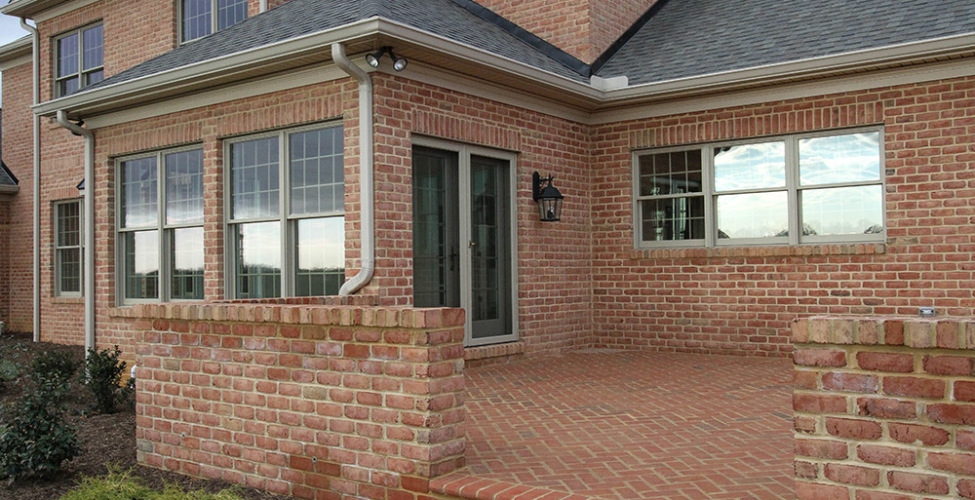 Brick Custom Rear Patio