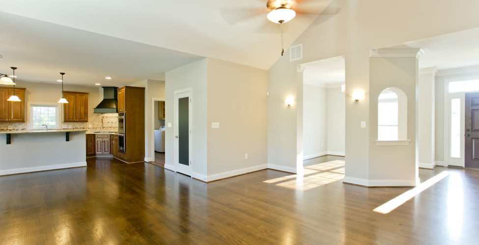 Single level living floor plan that boasts an open and spacious feel.