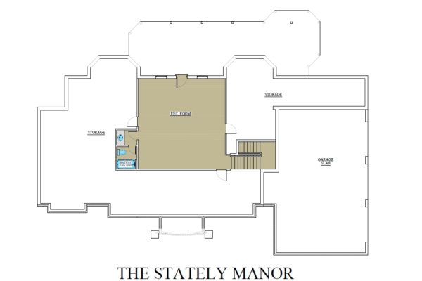 Stately Manor basement