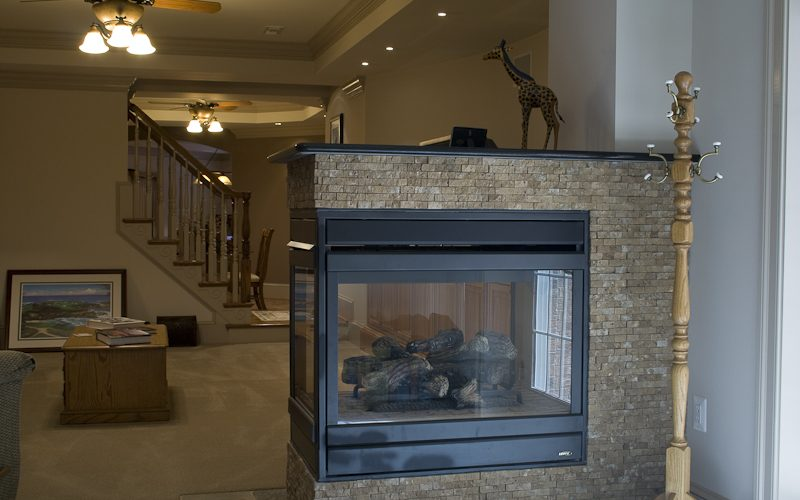 Three Sided Fireplace