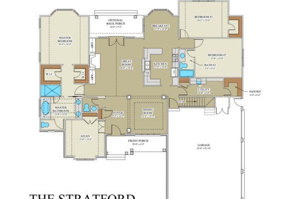 Stratford floor plan custom builder frederick county va for Stratford homes floor plans