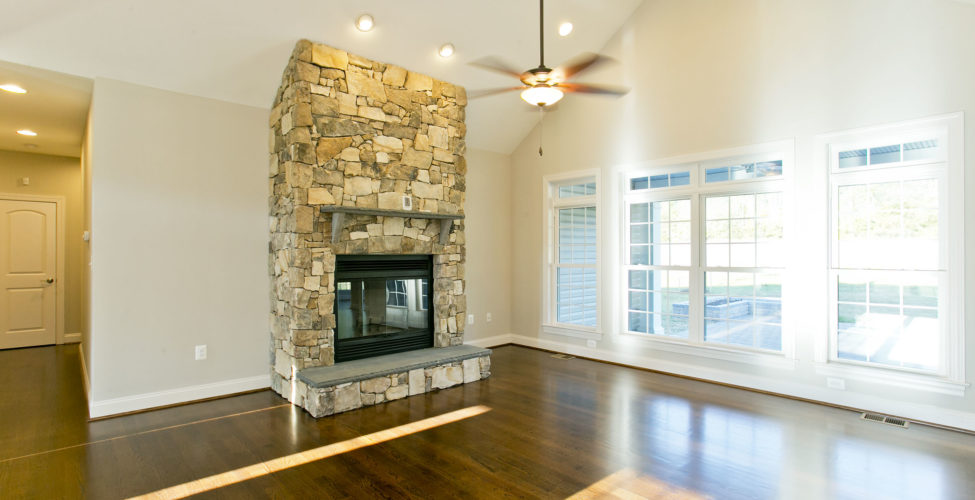 Beautiful fireplace to sit by