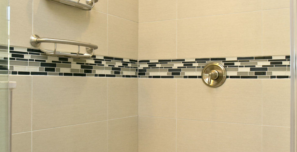 elegant shower, prepared for aging in place